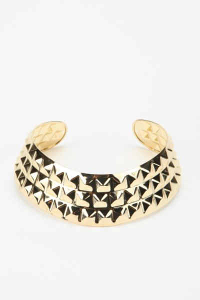 Hard Studded Collar Necklace