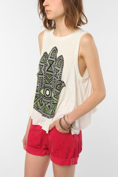 Daydreamer LA Eye See All Tulip-Back Tank Top