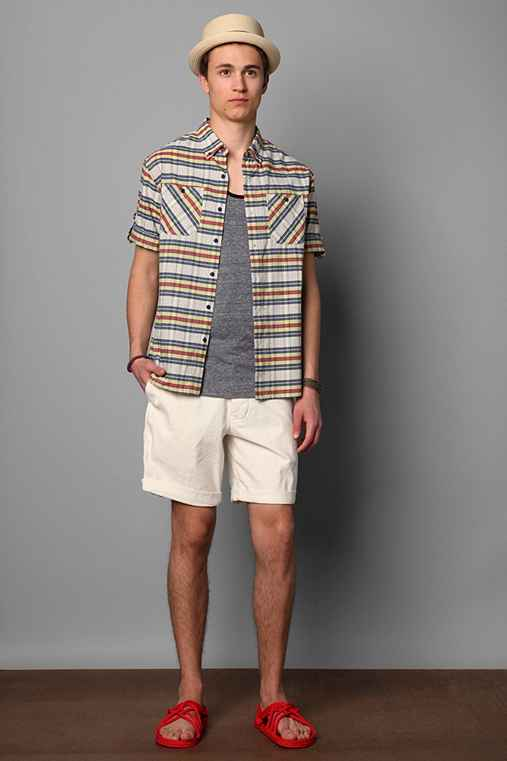 The Tourist by Burkman Bros Short-Sleeved Plaid Shirt