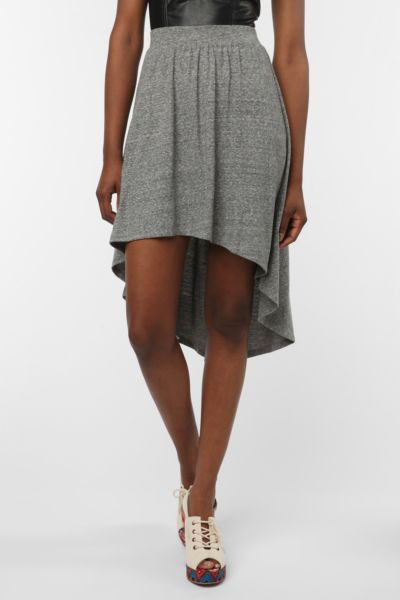 Sparkle & Fade Knit High/Low Skirt