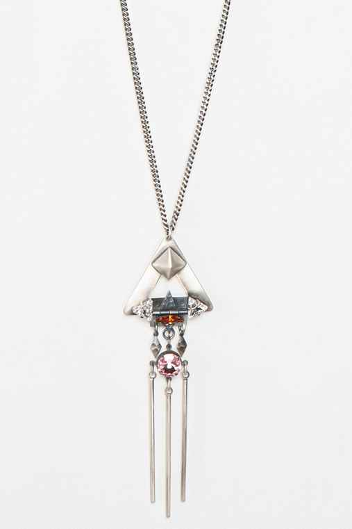 Merle O'Grady Hinged-Triangle Pendant Necklace