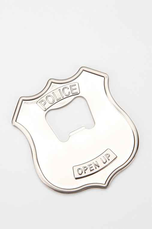 police badge bottle opener. Black Bedroom Furniture Sets. Home Design Ideas