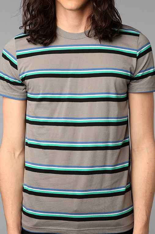 BDG 3-Color Bar Stripe Crew-Neck Tee