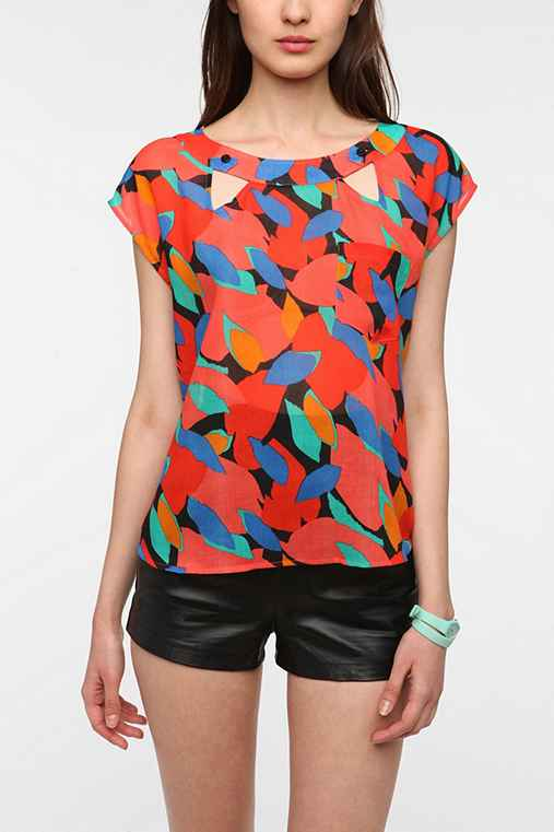 Cooperative Cutout Neck Blouse