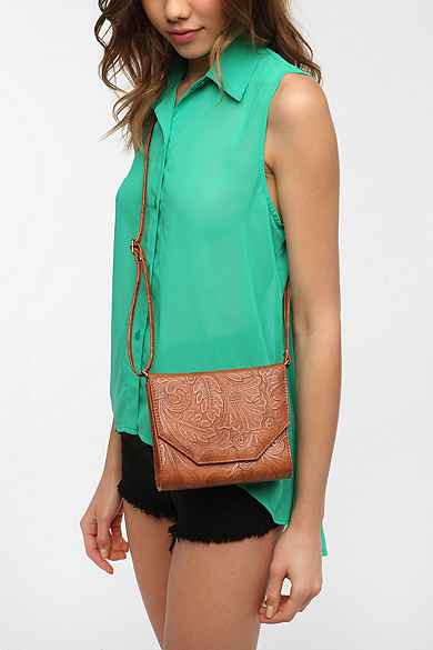 Cooperative Tooled Structured Crossbody Bag