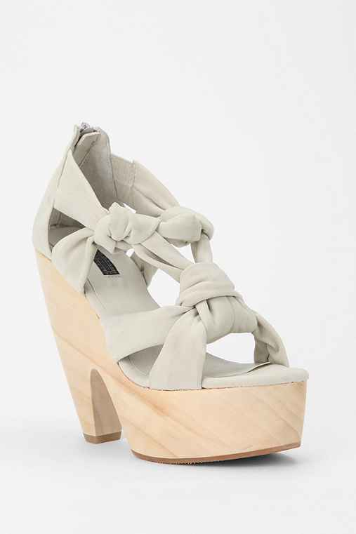 Deena & Ozzy Knotted-Up Wood Sandal