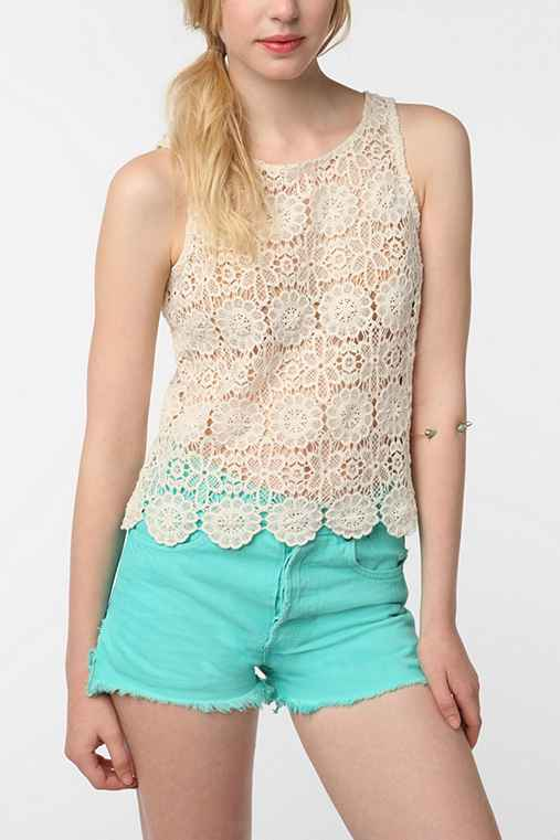 BB Dakota Lundy Crochet Tank Top