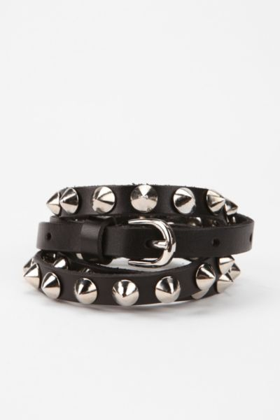Deena & Ozzy Skinny Dome-Spike Belt