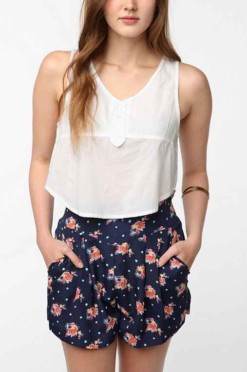 Staring at Stars Breezy Henley Tank Top