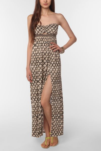 Silence & Noise Cleopatra Strapless Knit Maxi Dress