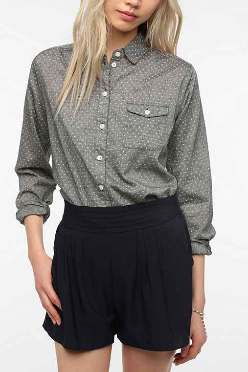 BDG Boyfriend Oxford  Button-Down Shirt