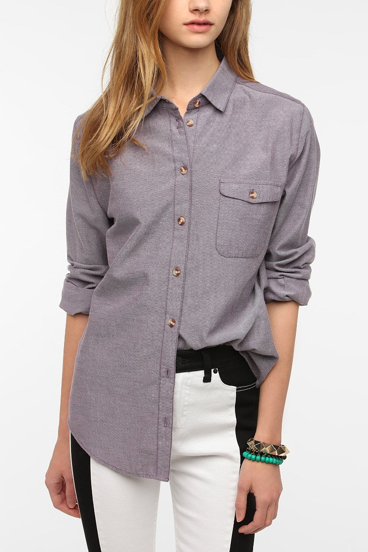 bdg boyfriend oxford button down shirt urban outfitters