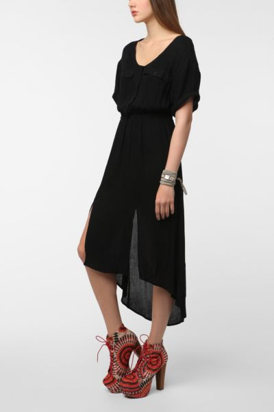 Silence & Noise Slit-Back Shirtdress
