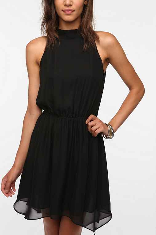 Pins and Needles High-Neck Chiffon Dress