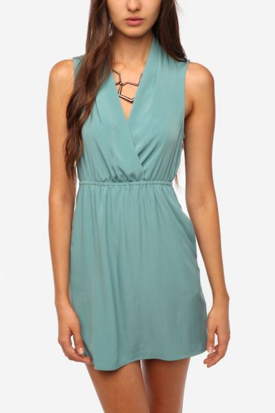 Sparkle & Fade Surplice Sleeveless Dress