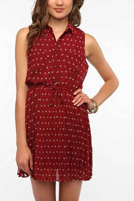 Coincidence & Chance Chiffon Polka Dot Dress