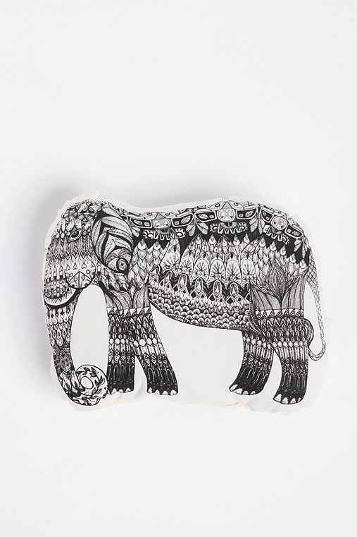 The Rise and Fall Etched Elephant Pillow
