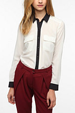 Coincidence & Chance Silky Colorblock Blouse