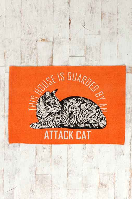 Attack Cat Printed Mat