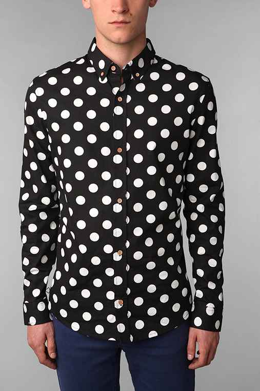 Your Neighbors Mod Polka Dot Shirt