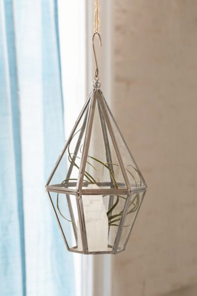 Faceted Hanging Terrarium
