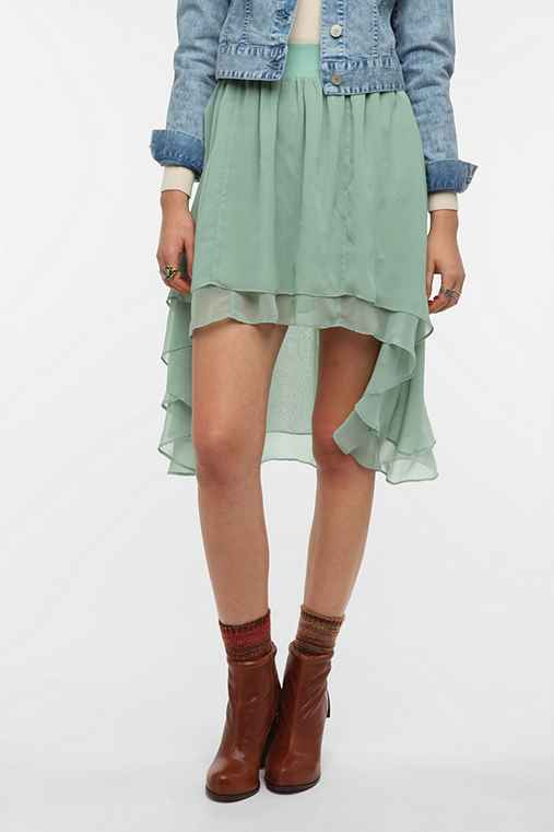 Staring At Stars Chiffon High/Low Skirt
