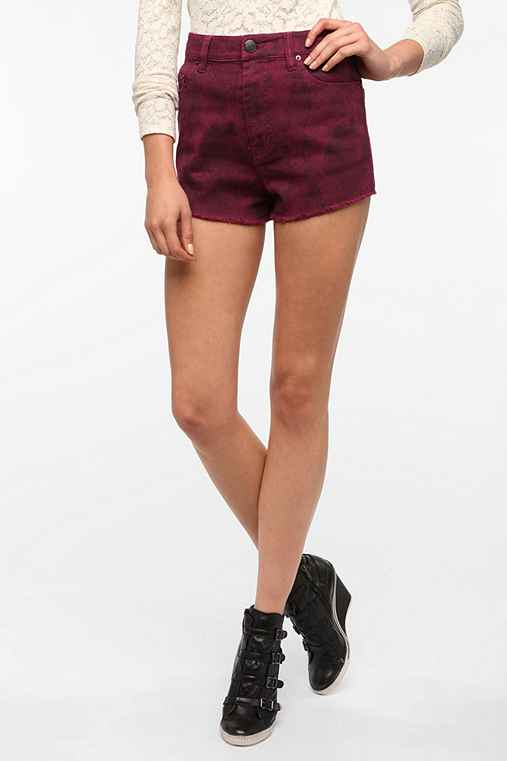BDG High-Rise Cheeky Short - Red Snake Print