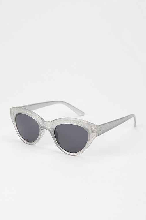 Glitter Cat-Eye Sunglasses