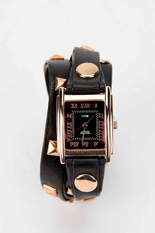 La Mer Rose Gold Studded Watch
