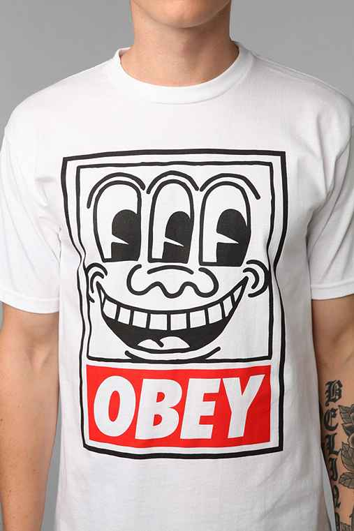 OBEY Keith Haring Eyes Tee