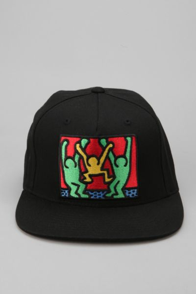 OBEY Keith Haring Friends Snapback Hat