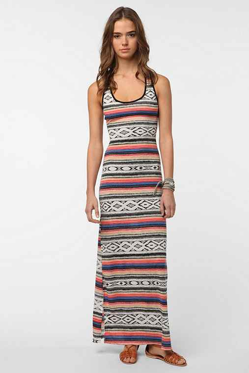 Reverse Geo-Zigzag Maxi Dress