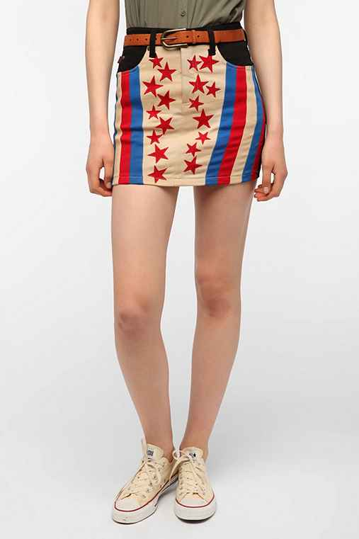 Tripp NYC Retro Flag Skirt