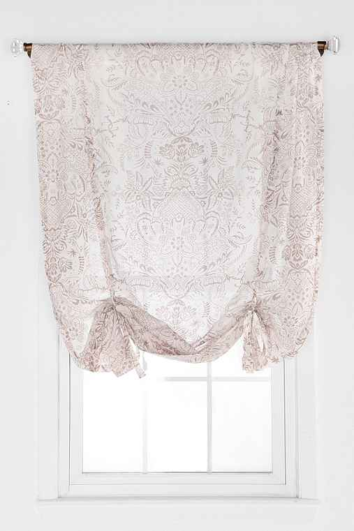 Antoinette Damask Draped Shade Curtain
