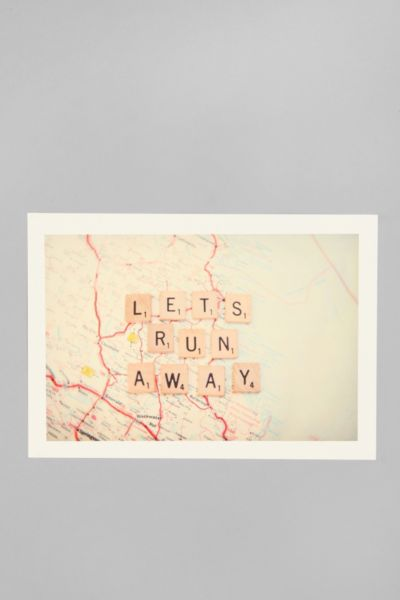 Shannonblue for Society6 Let's Run Away Print
