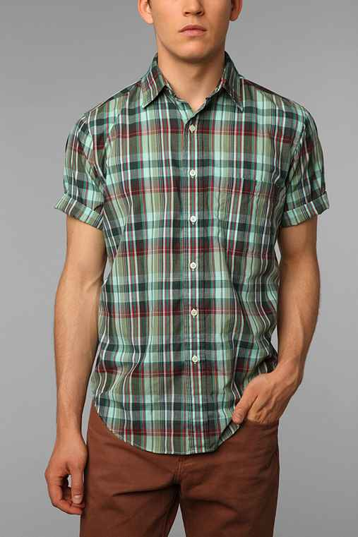 Urban Renewal Overdyed Plaid Shirt