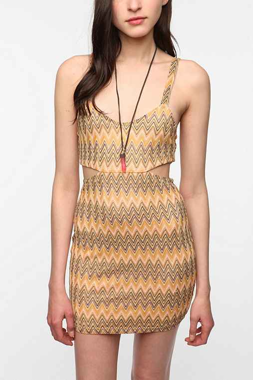 Lovers & Friends Zigzag Cutout Dress
