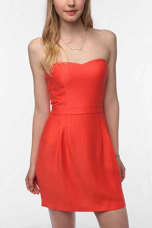 Cooperative Strapless Crepe Dress
