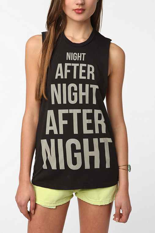 Truly Madly Deeply Night After Night Muscle Tank