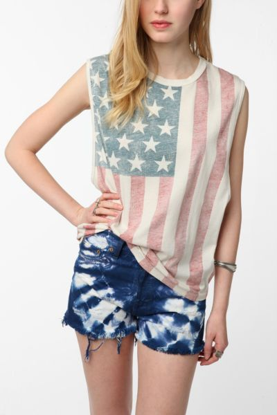 Truly Madly Deeply American Flag Muscle Tee