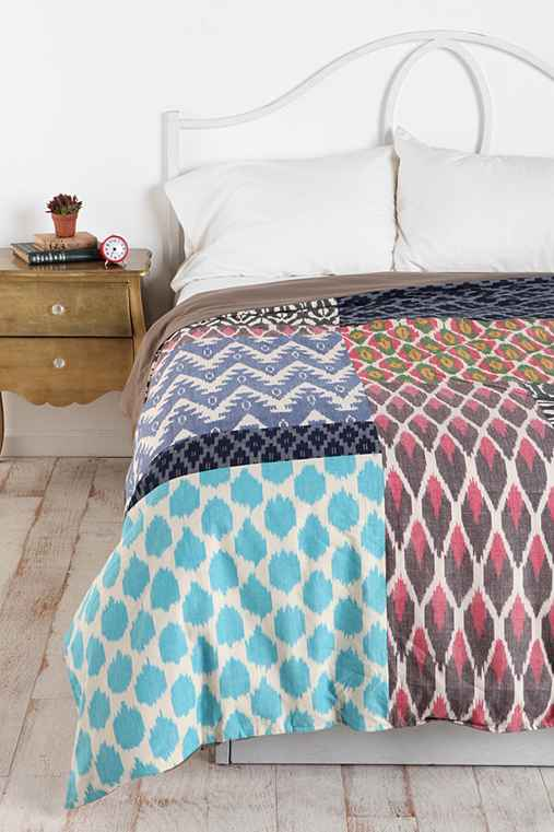 Magical Thinking Reversible Ikat-Patchwork Duvet Cover