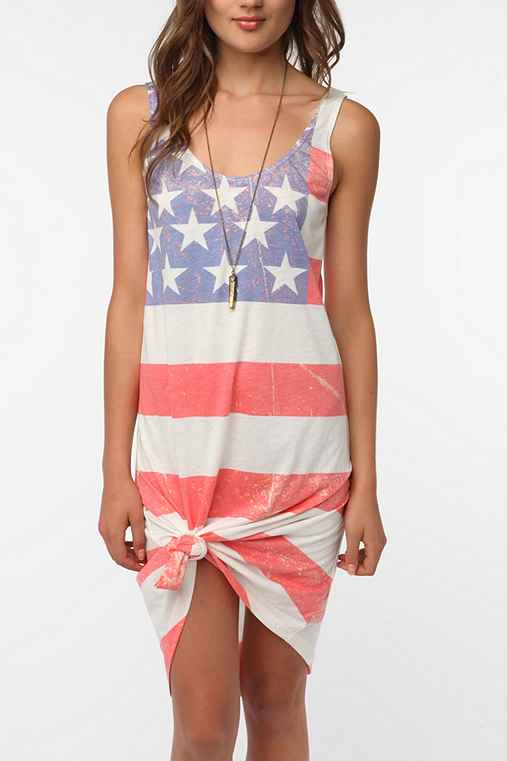 BDG Knit Flag Print Tank Dress