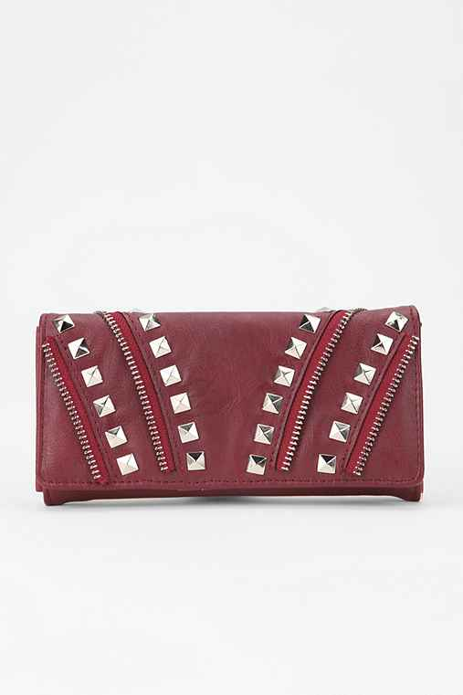 Deena & Ozzy Zipper-Stud Checkbook Wallet