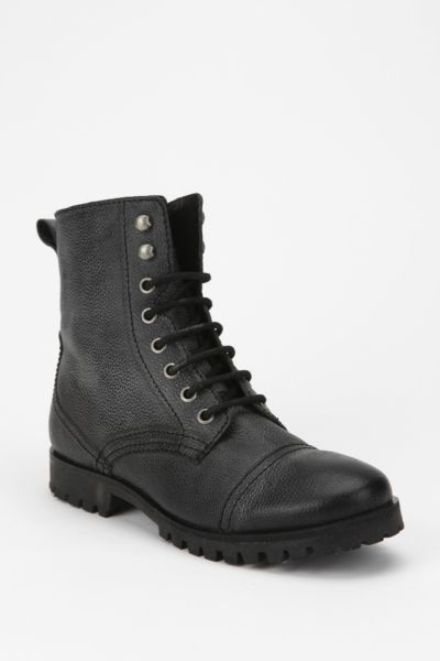 Deena & Ozzy Saint Leather Combat Boot