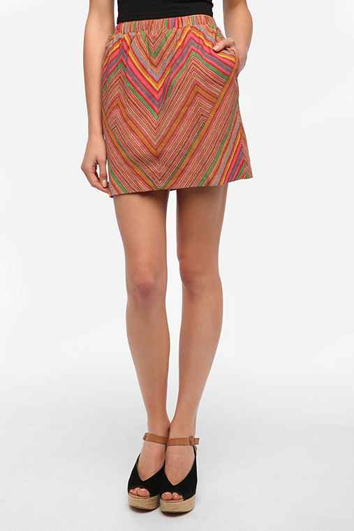 Staring at Stars Chevron Stripe Woven Skirt