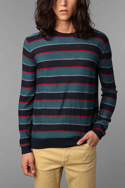Virgin Poets Society, A Trovata Project Striped Crew Sweater