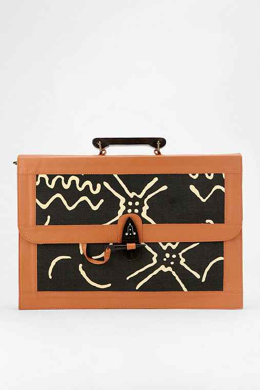 Ecote Structured Pattern Satchel - Urban Outfitters :  laptop bag