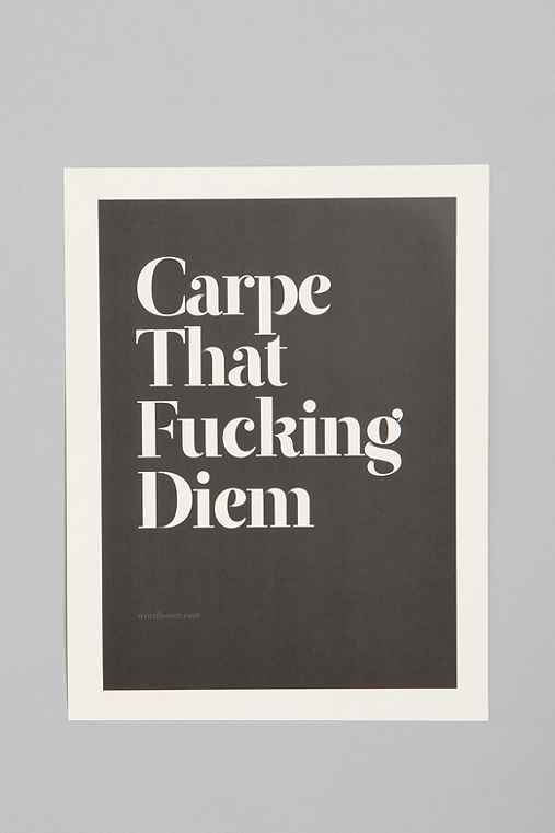Wordboner for Society6 Carpe Print