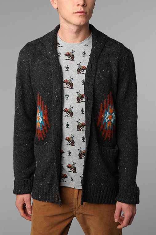 OBEY Pattern Shawl Cardigan