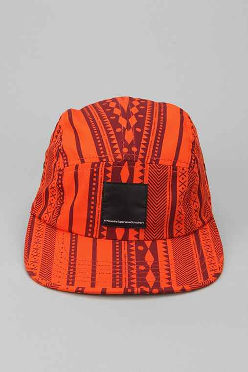 WeSC Geometric Pattern 5-Panel Hat